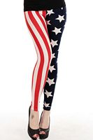 Fashionable Stars-and-Stripes Legging