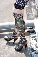 Dragon of Death Tattoo Stockings
