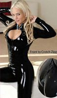 Catsuit with Bust Window and Zipper Crotch