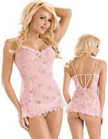 Butterfly Chemise with Matching G-String