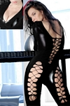 Catsuit with Lace-Up Thighs and Back
