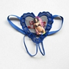 Lace Heart Twin G-String, Blue