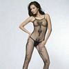 Floral Pattern Crotchless Body Stocking