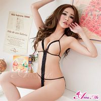 Lace Outlines Crotchless Teddy