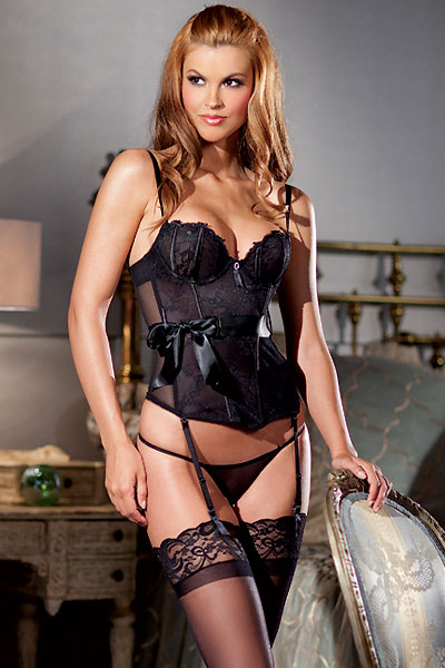 Bustier with Panties and Garters